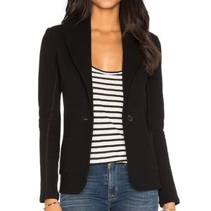 James Perse Shawl Collar Blazer Black Jersey Sz 3